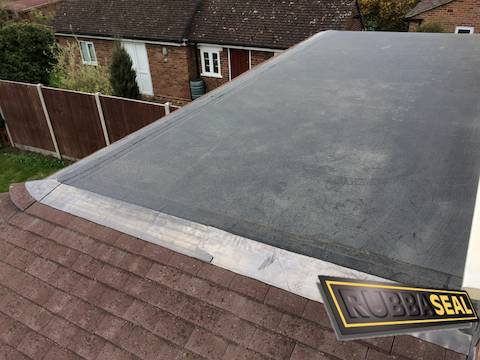 EPDM Roof Draining Onto Tiles
