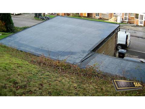 l shaped garage roof